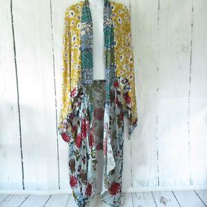 New-Umgee-Duster-Kimono-Cardigan-XL-XXL-Floral-Mixed-Boho-Peasant-Plus-Size