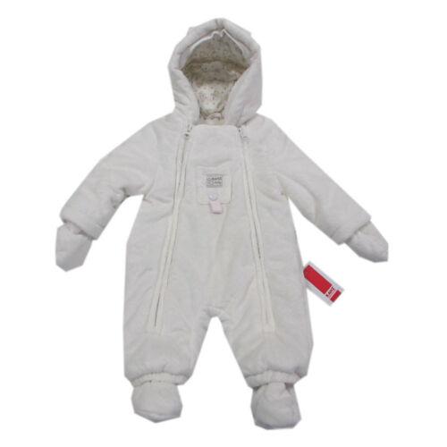 Kanz Babyanzug Overall Kapuze Einteiler Baby Thermoanzug weiß Kinder Gr.62,68,74