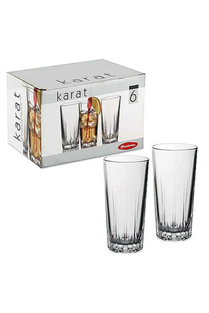 Set of 6 Juice Highball Drinking Glasses 330 Ml Water Cocktail Tumblers Cups
