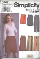 Simplicity 5462 Misses' Pants And Slim And Flared Skirts In Two Lengths 4 To 10