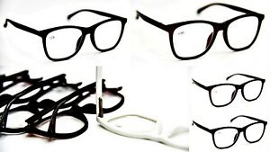f1a4965ef9 Details about Fashion Spring Hinged Unisex Geek Nerd Stylish Reading  Glasses in 4 Colors DX5