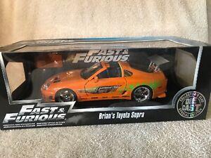 1-18-Brian-039-s-1995-Toyota-Supra-Fast-amp-Furious-Orange-Supra-Car-Jada-NIB-VHTF
