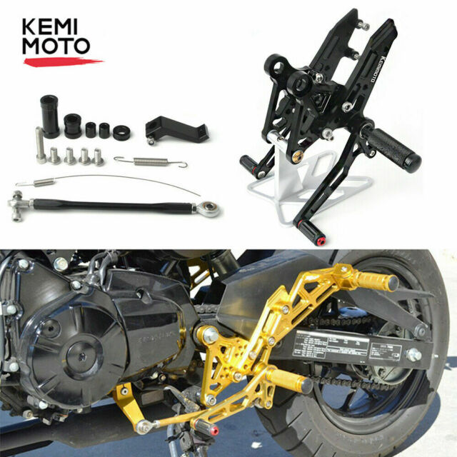 Rearsets Rear Sets Footpegs CNC Adjustable For Honda GROM MSX125 2013-2015