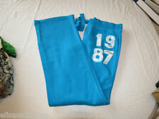 Aero Aeropostal womens Juniors Pajama pants lounge sleep fleece blue M #