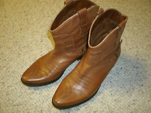 Franco-Sarto-Brown-Leather-Cowboy-Western-Boots-Riding-Women-7-5-M