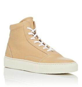 Common-Projects-Men-039-s-Sneakers-Size-12-45-Tan-Skate-Mid-Leather-New