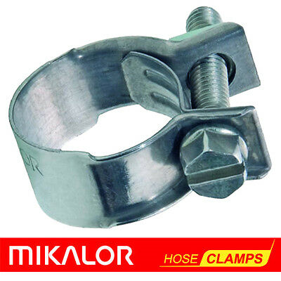 15-17mm Carbon Steel Zinc Plated Clip Fuel Air Water Line MINI HOSE CLAMP x 10