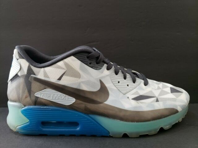 Nike Air Max 90 Ice Pack Mens Size 11.5 Running Shoes Blue Black Grey 631748 004