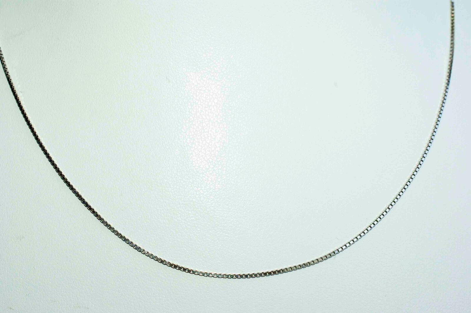 50 cm molto sottili sottili sottili veneziani CATENA 750 oro BIANCO 18 KT COLLANA lei + LUI NUOVO 4f200f