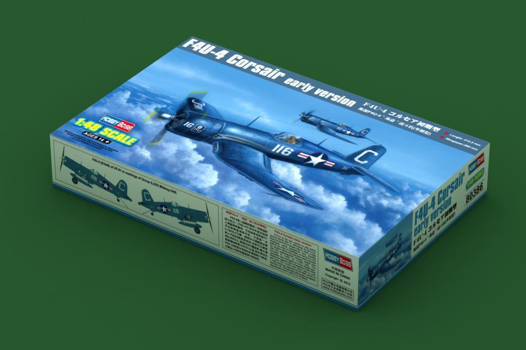 80386 Hobbyboss F4U-4 Corsair (Early) Fighter Airplane 1 48 Model Kit Plane Jet
