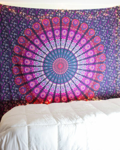 Indian Mandala Bedding Cover Hippie Bohemian Tapestry Wall Hanging Bed Sheet New