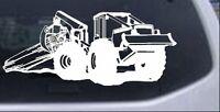 Log Skidder Logging Car Or Truck Window Laptop Decal Sticker White 12x5.1