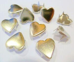 500-Nieten-Herzform-9-x-9-mm-Messing-Silber-rostfrei-Dekoration-Textil