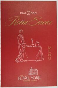 Vintage-The-Royal-York-Toronto-Canada-Room-Service-Hotel-Restaurant-Menu