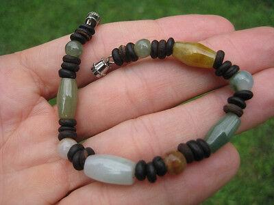 Natural Jade stone  bead bracelet Thailand jewelry art