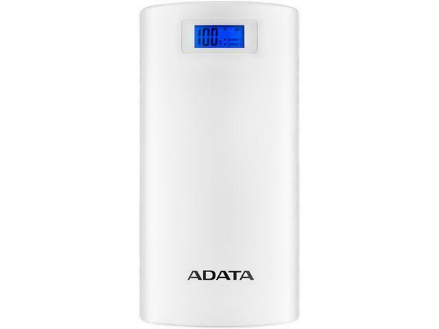 ADATA P20000D White 20000 mAh Power Bank AP20000D-DGT-5V-CWH