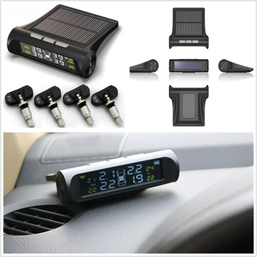 Solar Power Car Tire Pressure Monitoring System Wireless LCD Diaplay with Sensor