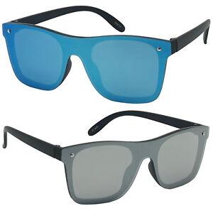 Kids-Boy-Girls-New-Flat-Lens-Full-Shield-Horn-Rimmed-Rimless-Sunglasses