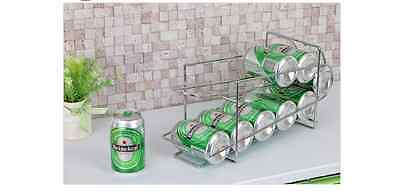 Can Dispenser Refrigerator Beverage Rack Storage Holder for Soda, Beer, Coke