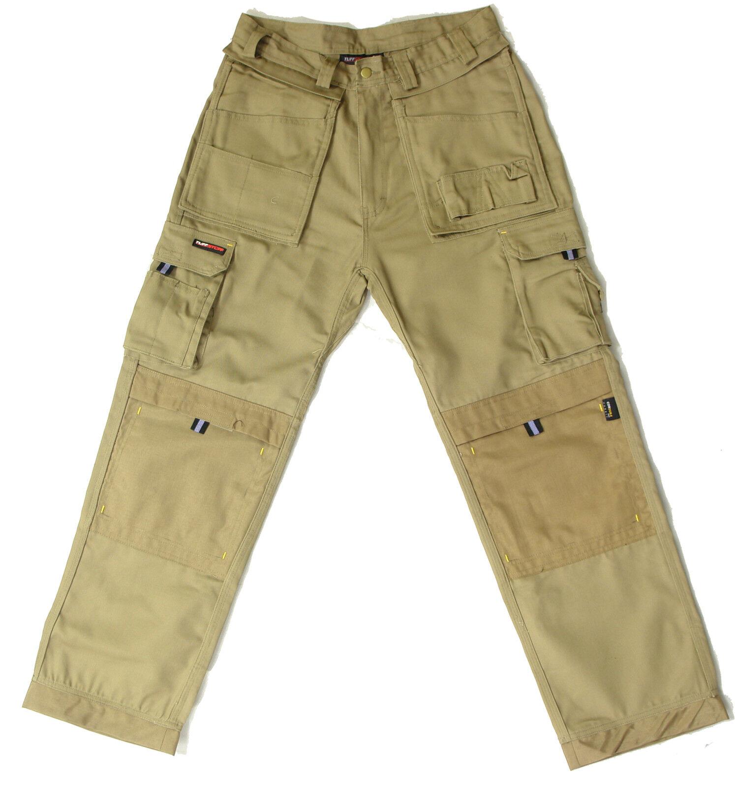 2 Pares de tuff Extremo Pantalón Trabajo Cordura Rodillera Bolsillo Resistente