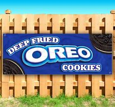 Deep Fried Oreo Cookies Advertising Vinyl Banner Flag Sign Many Sizes Available