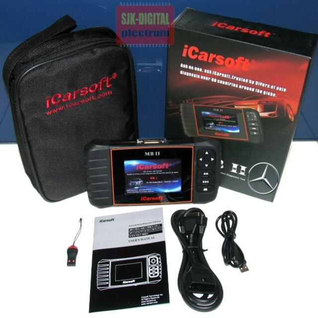 iCarsoft MB II i980 V2 Diagnosegerät für Mercedes Airbag Motor ABS Bremse Reset