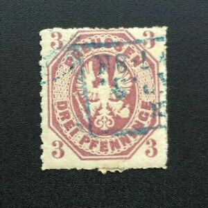 Timbre-PRUSSE-Yvert-et-Tellier-n-14-Obl-Cyn37-Stamp