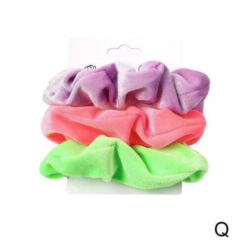 6PC//SET Women Hair Scrunchies Velvet Hair Ties Scrunchy Bands Elastic Ties R5I0