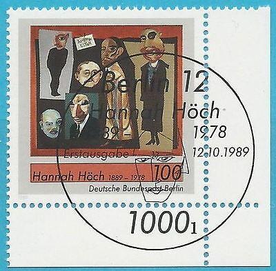 Deutschland Ab 1945 Briefmarken Hannah Höch-gemälde! Unter Der Voraussetzung Berlin Aus 1989 Gestempelt Minr.857