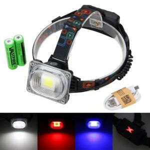 Rechargeable-3000lm-30W-LED-Powerful-Front-Light-Headlamp-Head-Torch-2x-Battery