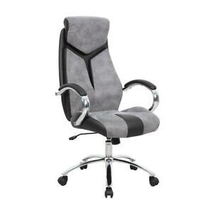 Sensational Details About Office Desk Chair Executive Adjustable Swivel Seat High Back Headrest Grey Pabps2019 Chair Design Images Pabps2019Com