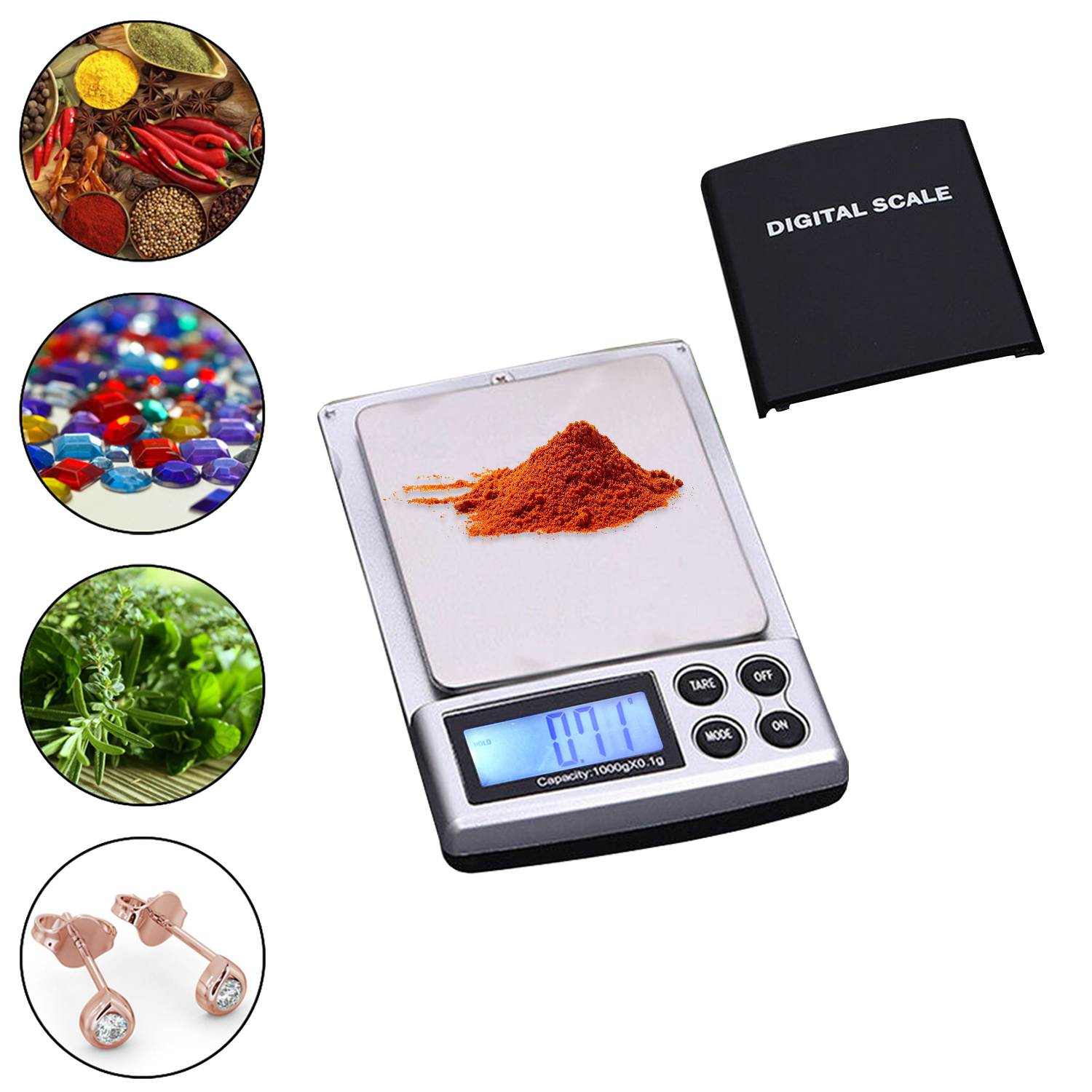 0.01g-500g Digital pocket weighing scales grams Small Kitchen gold jewellery uk