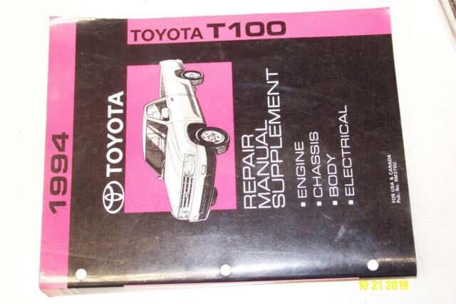 1994 Toyota T100 Service Manual Chassis Body Engine