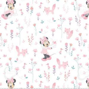 Coupon-de-Tissu-Disney-Minnie-Mouse-Bebe-Fille-Rose-45x55cm