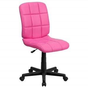 Gentil Details About Pink Makeup Chair Vanity Accent Computer Office Desk Stool  With Wheels Rolling