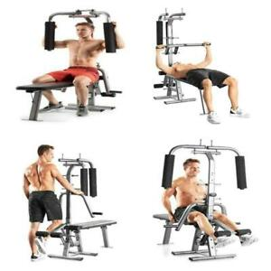 Flex CTS Total Home Gym Workout 200 lb Weight Bench Press Shoulders Quad Triceps