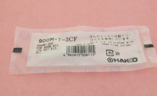 New Replace Soldering Solder Leader-Free Solder Iron Tip F Hakko 936 900M-T-3CF