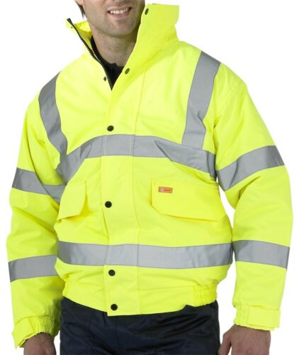 BEESWIFT CONSTRUCTOR BOMBER JACKET HI-VIS YELLOW CBJENGSY MED-2XL