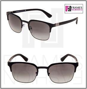 c646757d0e Image is loading PRADA-PR61SS-Matte-Black-Square-Gunmetal-Sunglasses- Gradient-