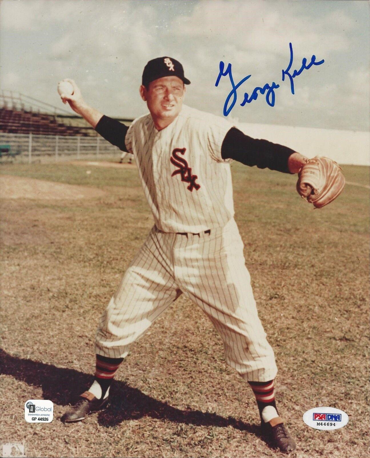 George Kell Chicago White Sox signed 8x10 photo GAI Cert# GP44694