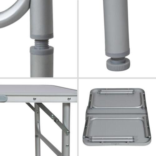 Mesa plegable de aluminio portátil Camping Terraza Jardín Mesa multifuncional