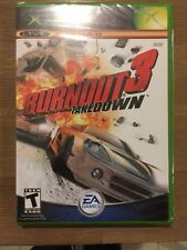 Burnout 3: Takedown (Microsoft Xbox, 2004) Factory Sealed First Print!