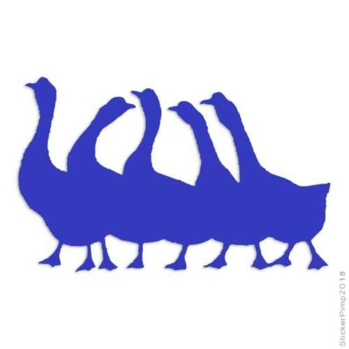 Flock of Geese Decal Sticker Choose Color Large Size #lg340