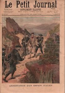 Italy-Spy-Border-Italie-Chasseurs-Alpins-Alpini-Espion-France-1896-ILLUSTRATION