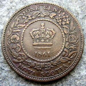 NOVA-SCOTIA-CANADA-QUEEN-VICTORIA-1861-ONE-CENT