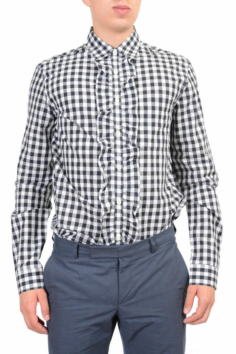 Prada Men's Multi-color Dress Shirt Size US 15 3 4 16 16 1 2 IT 40 41 42