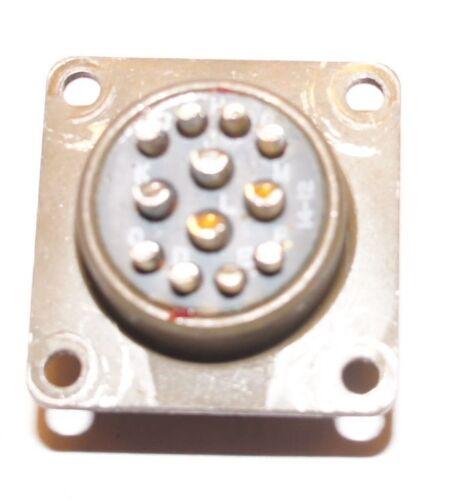 ITT MS311 2E14-1P  12 Pin Chassis Mount Circular Connector Amphenol