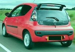 citroen c1 peugeot 107 rear roof spoiler new tuning ebay. Black Bedroom Furniture Sets. Home Design Ideas