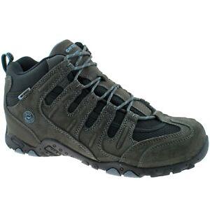 Hi-tec Quadra II Classic Hiking Mens Walking Outdoor Trainers Charcoal UK7-12