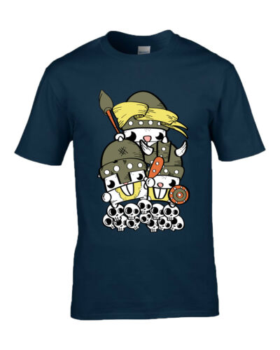 Available in Men/'s Rabbit Vikings Fun Novelty Design T shirt Ladies And Kids